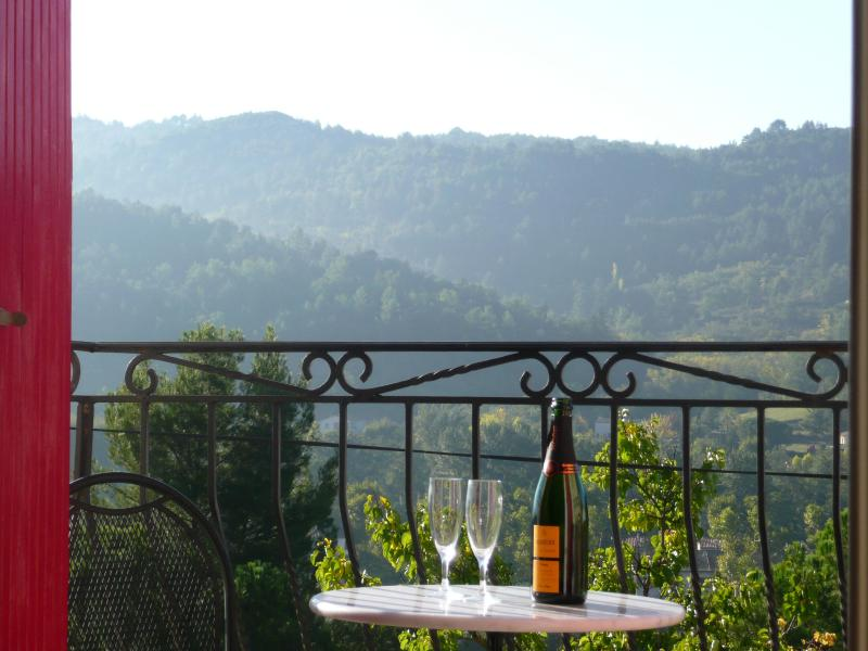 Views from the cottage over the Aude valley. - Stone cottage hilltop village with stunning views. - Carcassonne - rentals