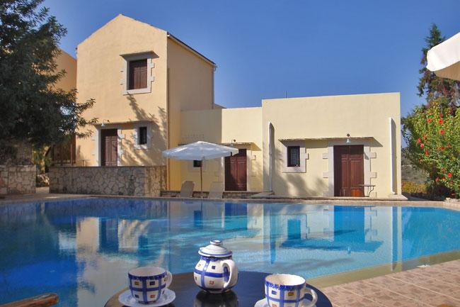 the property - house with sharing pool in  village  near beach - Vamos - rentals