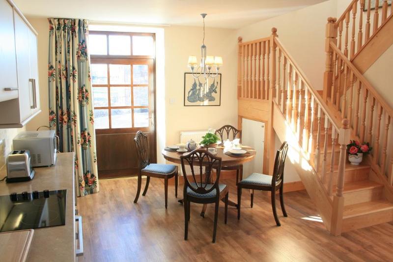 Open-plan dining area and door to patio - Oak at Finnich Cottages - Ukraine - rentals