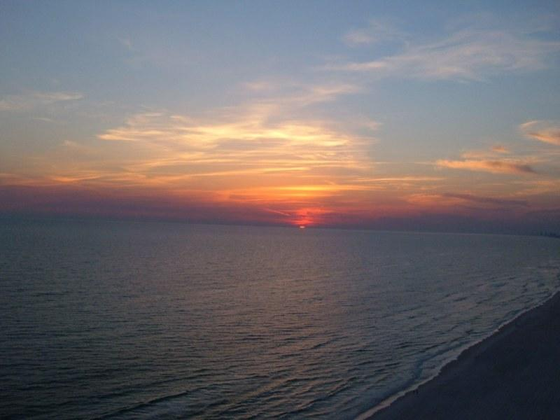 Your Sunset from your balcony - Seychelles 4th Floor Beach Front - Panama City Beach - rentals