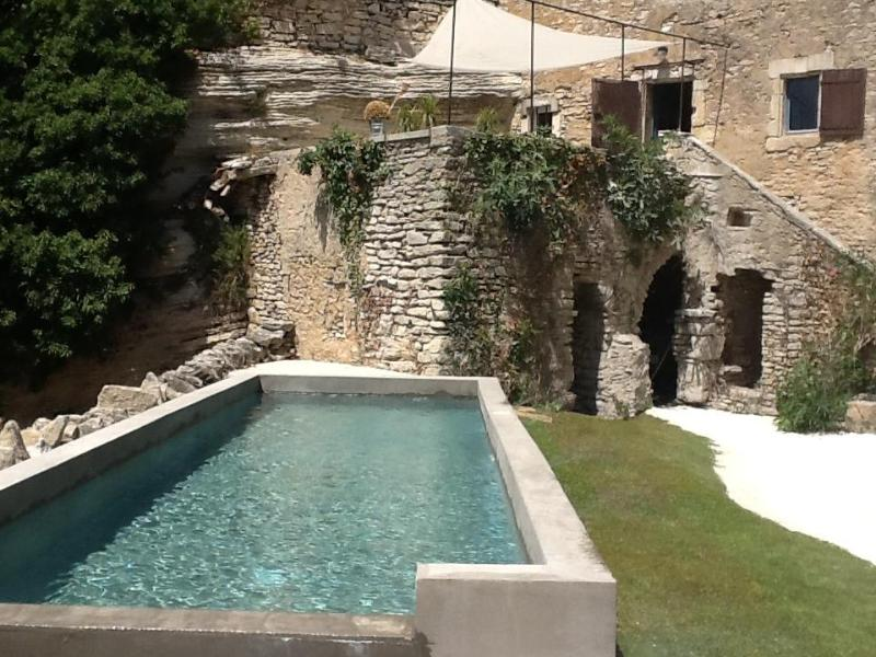 The swimming pool - Panoramic view on Luberon in the heart of Goult ! - Goult - rentals