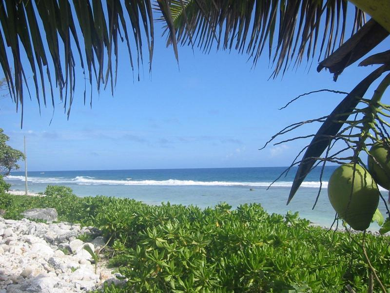 Beach view - Seaspray Beach Villa  -Rarotonga beachfront home - Rarotonga - rentals