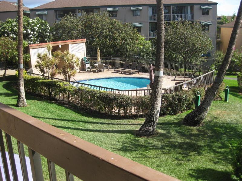 View from the Lanai to the Pool, ready to dive in? - Maui Living! Jump in the pool, Steps to the Beach! - Kihei - rentals