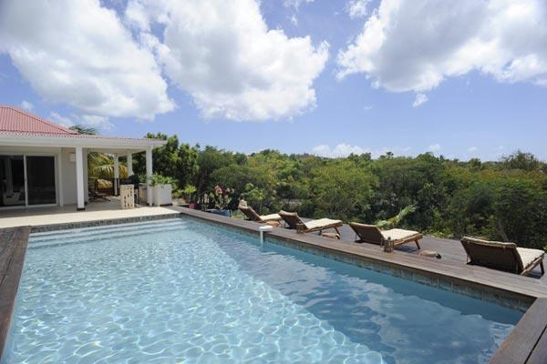 Overlook the Caribean Sea from this villa, nestled into the hillside of French St. Martin. C BLI - Image 1 - Terres Basses - rentals