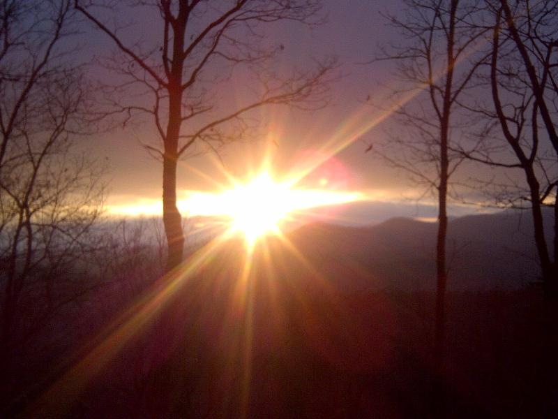 winter sunset - NR B. RIDGE HIKE FISH NEW FIREPIT HOT TUB WIFI - Blue Ridge - rentals
