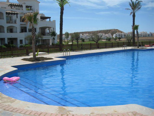 Our nearest pool - two minutes away, beautiful, 25m, spacious, immaculately clean - Luxury Apartment on Hacienda Riquelme Golf Resort - Murcia - rentals