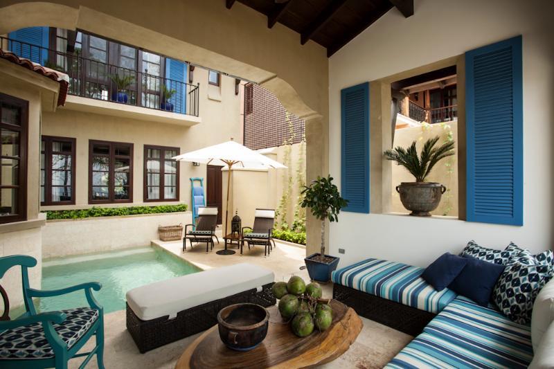 Poolside terrace - Casa Azul - Las Catalinas, Guanacaste, Costa Rica - Las Catalinas - rentals