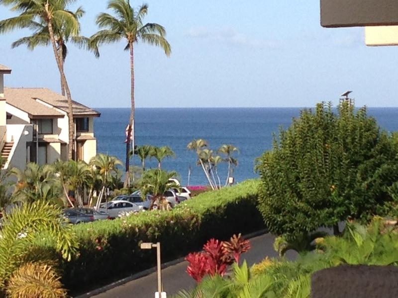 Your view from the Lanai down to the Ocean. - Your Maui Escape, Lanai Ocean View, Next to Beach! - Kihei - rentals