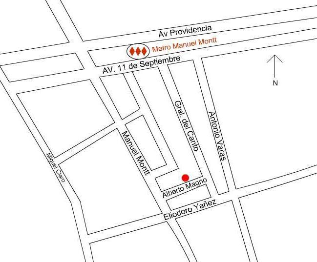 Mapa de ubicación de Providencia B & B - Providencia B & B - Santiago - rentals