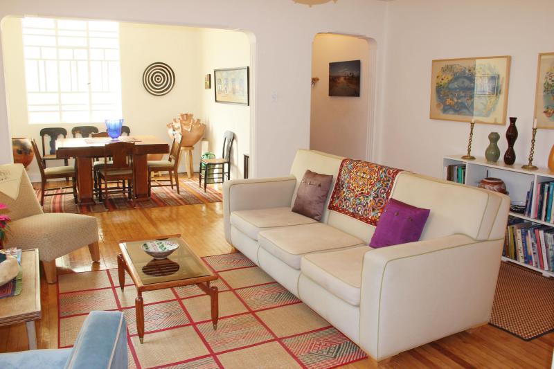 living /dining room - 2 bedroom apt. deco bldg, Condesa - Mexico City - rentals