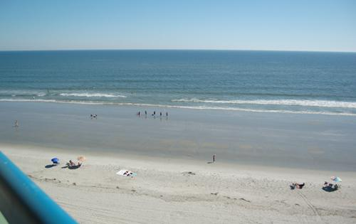 Private oceanfront balcony - Great oceanfront 1BR w/ pool, 9th floor view!!! - North Myrtle Beach - rentals