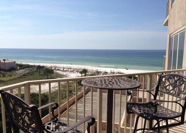 View From Private Balcony - Tops'l Beach Manor 603 Gulf Front The Perfect Winter Nest For Snowbirds! - Miramar Beach - rentals