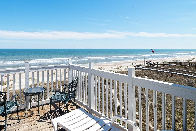 Your deck - Captain's House C3 Oceanfront - Fernandina Beach - rentals