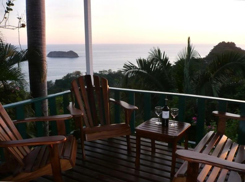 Deck - Panoramic Ocean Views, Walk to Beach - Manuel Antonio National Park - rentals
