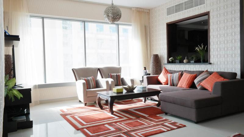 Living Room morning view - Dubai Downtown Boulevard - Dubai - rentals