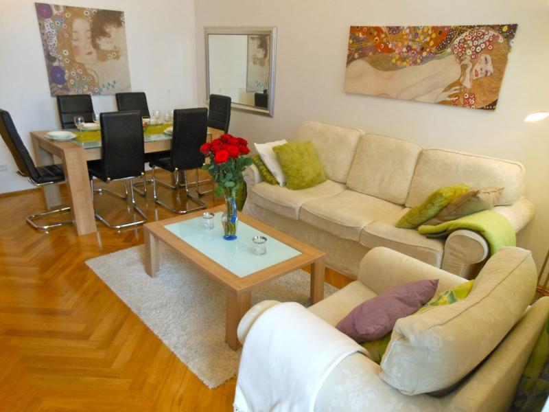 Modern apartment of 75m2 - the sofa can be turned into a sofa bed sleeping two - Next to Palace Hofburg - with GARDEN - Apt. 11 - Vienna - rentals