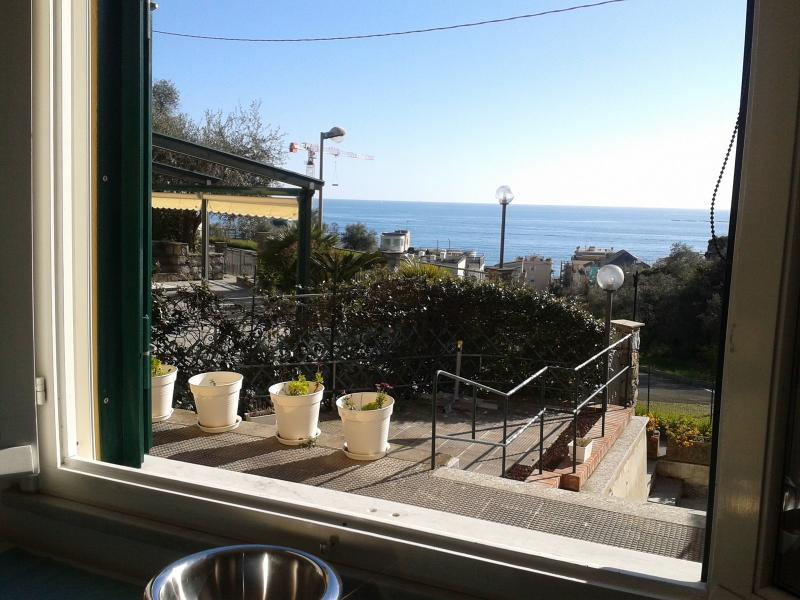 view from living room - LAVAGNA 2 -VILLA GIULIA GROUND FLOOR - Lavagna - rentals