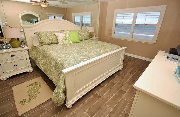 Beautiful Hardwood Floors in Master Bedroom - Ponce de Leon Towers 803- Discover Youthful Fun - New Smyrna Beach - rentals