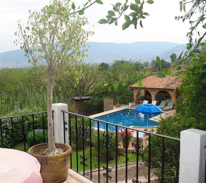 View from Balcony Terrace to the pool - Balcony Suite with views of pool and sunset - Jocotepec - rentals