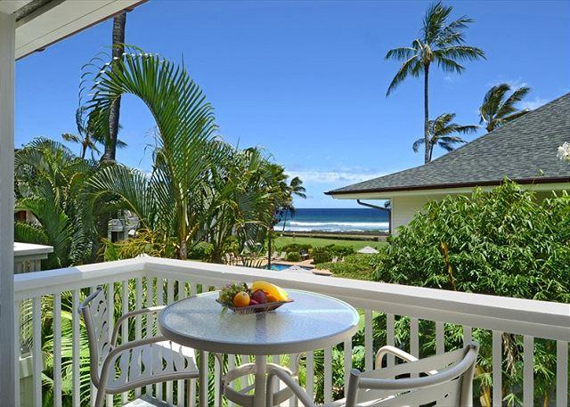 Revitalize the soul on the lanai of Hale Ho'omau, Poipu Kapili 2 - Oceanfront Poipu Kapili 20 Swaying Palms, Rolling Waves, Heated Pool, Updated - Poipu - rentals