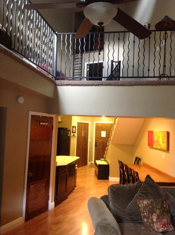 living room/ view of upstairs - Newly Remodeled 2 Bedrooms Plus Mini Loft - Brian Head - rentals