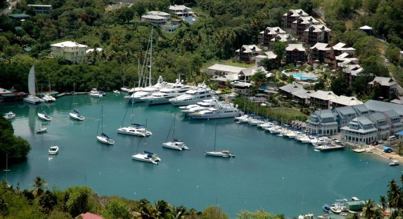 Overview of Resort and Marina - 2BR Luxury Suite in Capella Resort, Marigot Bay - Marigot Bay - rentals