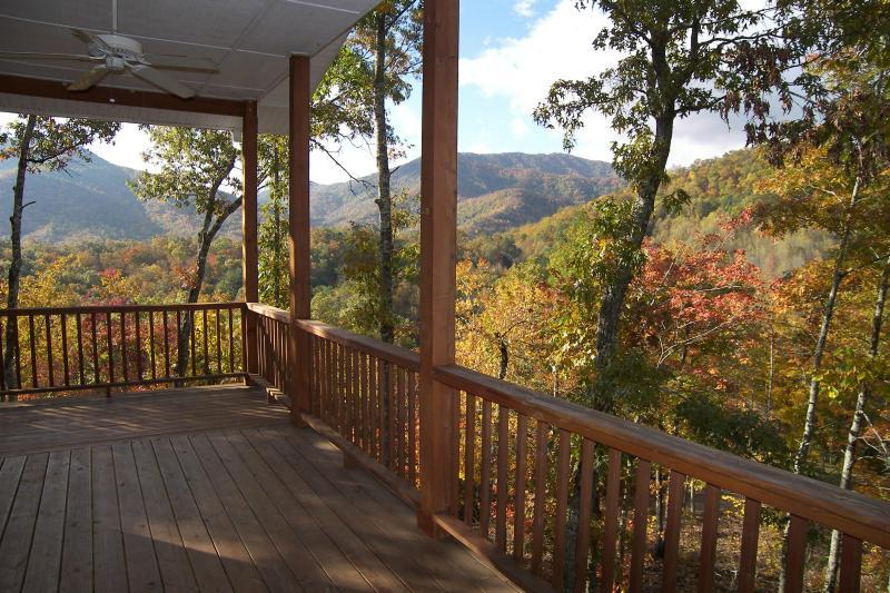 Porch view - Spectacular Smoky Mountain Views! - Robbinsville - rentals