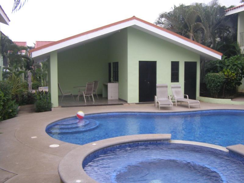Out door pool  and laundry room - Villa Riviera Condominium C8 near beach & downtown - Playas del Coco - rentals