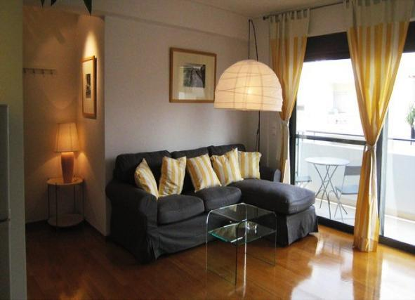 Living room - 1 bedroom apartment, Achilleos Kurou - Athens - rentals