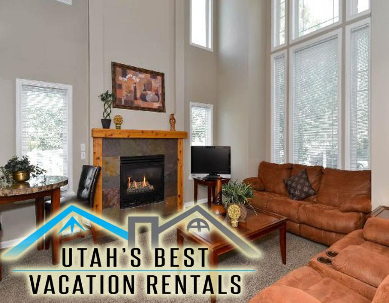Open family room with gas fireplace, sofas, and vaulted ceilings - Ski Home Near Big Cottonwood Canyon+Hot Tub+Space! - Salt Lake City - rentals