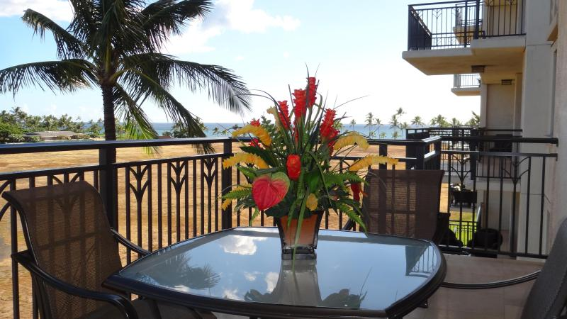 View of the Pacific Ocean from our lanai - Ocean View Beach Front Villas - Ocean View (20421) - Kapolei - rentals