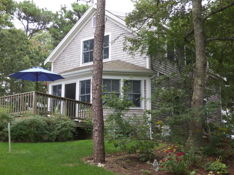 View of the House and Deck - Secluded home with view of & access to saltwater - South Orleans - rentals