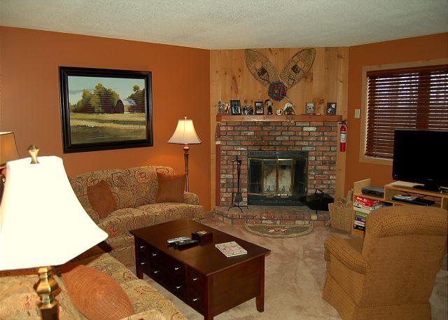 Living Room - Kettle Brook 2 Bedroom Ski In/Out - Ludlow - rentals