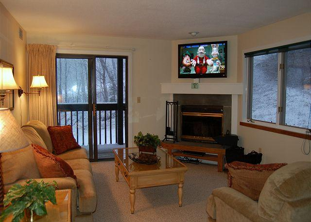 Living Room - Okemo Mtn Lodge C Building End Unit - Ludlow - rentals