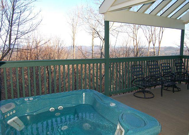 Deck with private Hot Tub - Trailside 4 Bedroom with Hot Tub - Ludlow - rentals