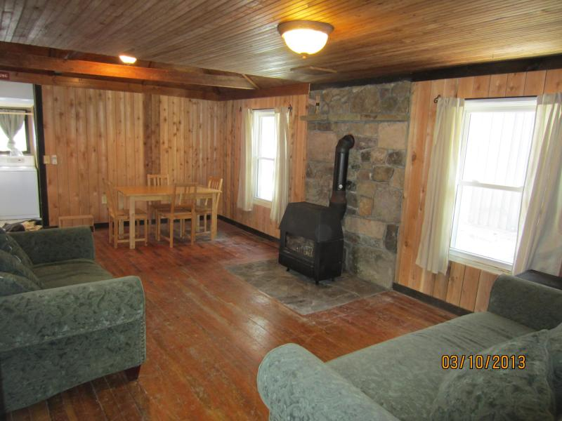 Living Room with Wood Stove - Cliffside Cabin near George Washington Forest - Harrisonburg - rentals