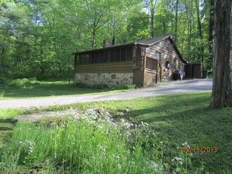 Front View of Cabin in Spring - Lower Rawley Cabin - Rawley Springs - Harrisonburg - rentals