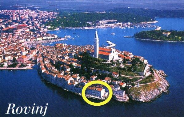 old town rovinj with our house see circle - apartment-4 directly on the sea in Rovinj - Holiday Hinterreiter - Rovinj - rentals