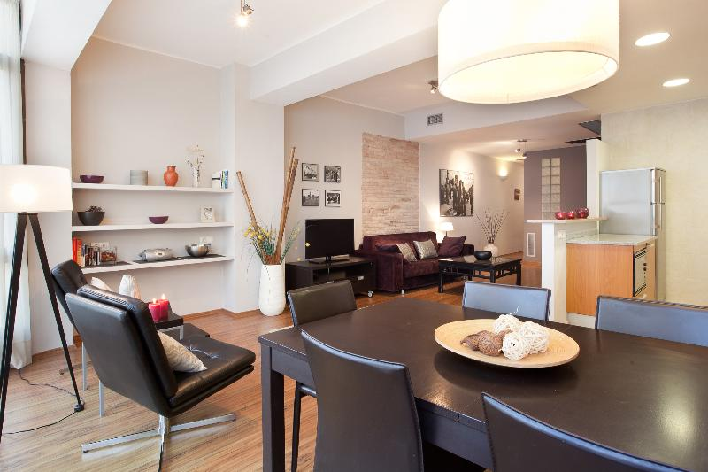 Apartment Barcelona Living room - Spacious apartment in the Eixample area of Barcelona - Barcelona - rentals