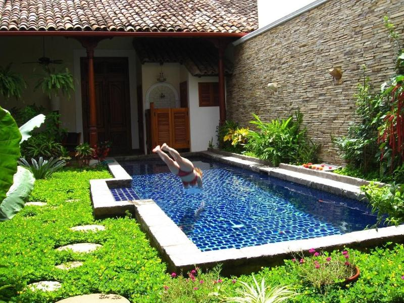 40 ft. long, clear and refreshing pool - Beautifully Restored 250 Year Old Classic Villa in Granada, Nicaragua - Granada - rentals