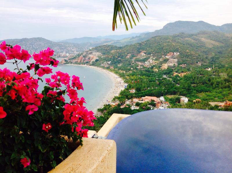 Flowers in full bloom with Playa La Ropa as the backdrop! - This is your luxury vacation rental!!! - Zihuatanejo - rentals
