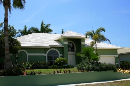 Front of house new landscaping - 2015 to 2016 Sale pricing - Marco Island - rentals