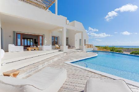 Colibri- superb ocean views, near beach- golf with pool & gym - Image 1 - Anguilla - rentals