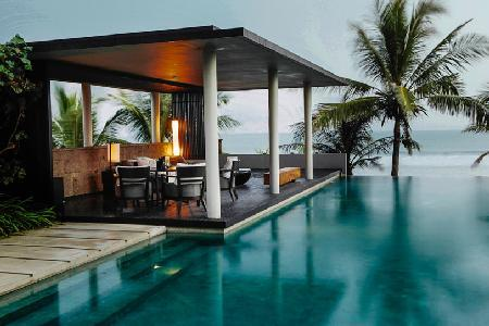 Beachfront The Soori residence- 360° ocean view, intimate grounds & infinity pool - Image 1 - Tabanan - rentals