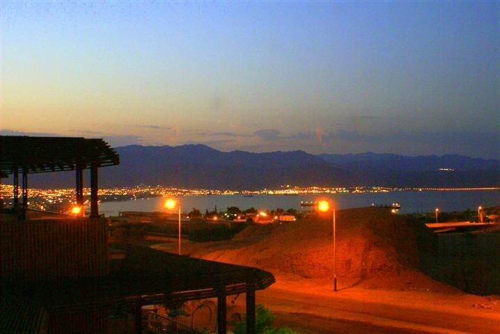 vIEW FROM BALONY OF AQUBA - Apartment over looking gulf of eilat - Eilat - rentals