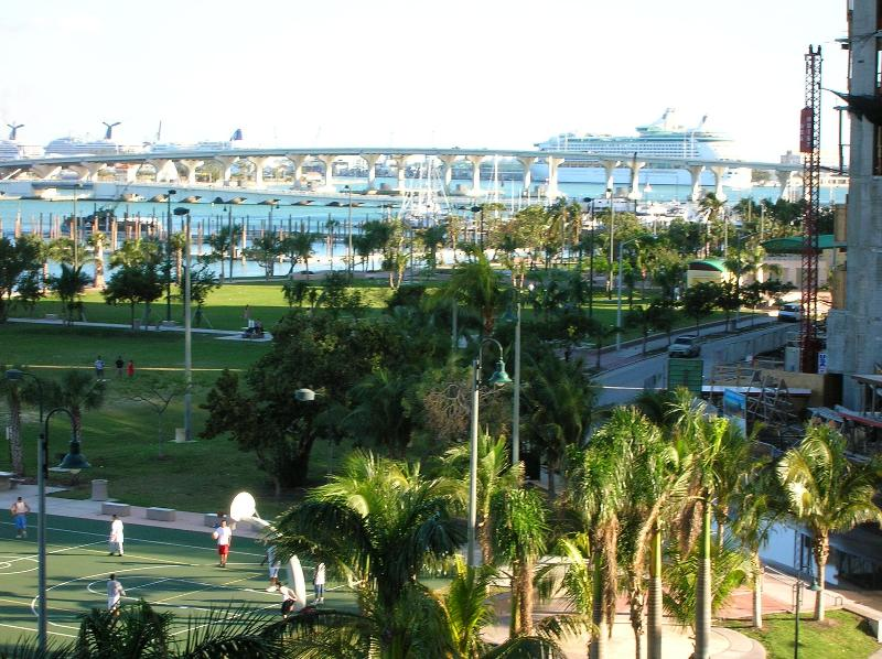 Pace Park and Port of Miami From The Balcony - DIRECT BAY VIEW - Coconut Grove - rentals