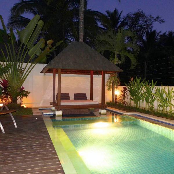 Plunge pool and bale by night - Ubud Villa Pura Padi - Ubud - rentals