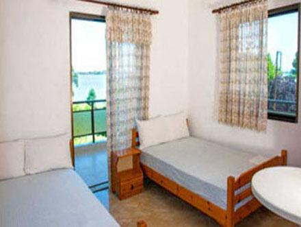 Bedroom with two queen size  beds - Anna Houhlia House,Two bedroom apartment ! - Vourvourou - rentals