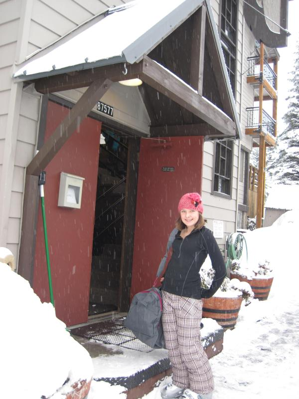 Main Entrance to Chalet/Lodge. We are on the main floor, right above the recroom/waxroom - Mt. Hood,Government Camp-3brmCondo/Chalet, spacious w/HOT Pool right out back door - Government Camp - rentals