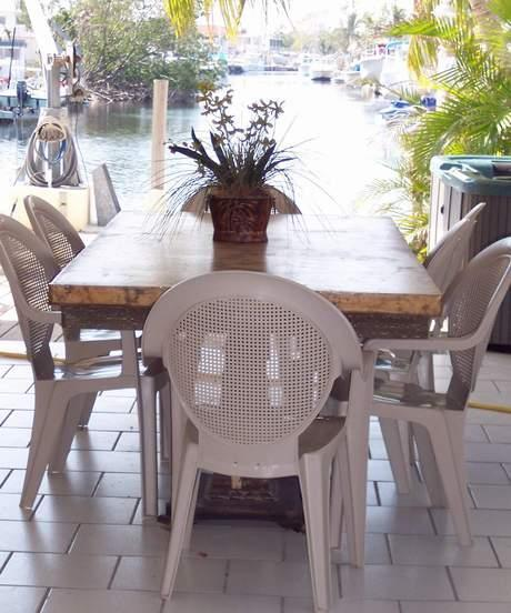Covered Entertainment and Outdoor Jacuzzi Hot Tub - Serenity Waterfront-Dock, View, Tiki Hut, spa/hot - Islamorada - rentals